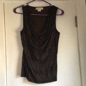 Brown with black pattern tank top.  Sz XS